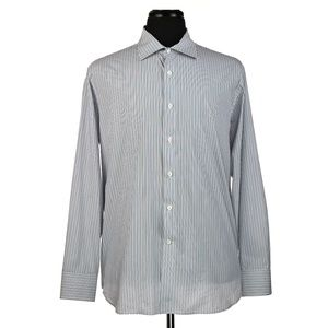 Canali 1934 Dress Shirt Multi-Color Stripes 17.5